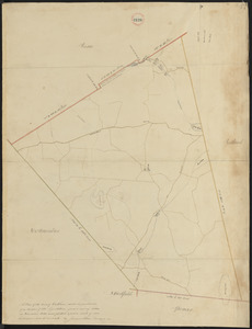Plan of Oakham made by James Allen, dated November 1830