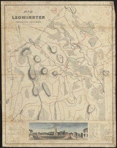 Plan of Leominster, surveyor's name not given, dated 1830
