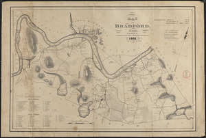 Plan of Bradford made by Benjamin Greenleaf and Jeremiah Spofford, dated 1831