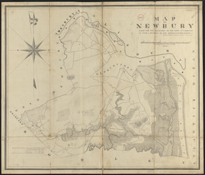Plan of Newbury made by Philander Anderson, dated June, 1830