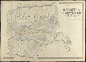 Plan of Harwich and Brewster, made by John G. Hales, dated 1831