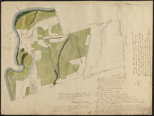 Plan of Hatfield made by Rodolphus Morton, dated August, 1830