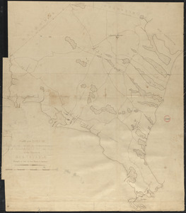 Plan of Falmouth made by Jesse Boyden, dated 1841