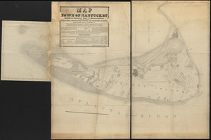 Map of Nantucket made by J. Prescott, dated 1831