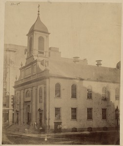 Cathedral of the Holy Cross, Franklin St. Boston. Built 1803