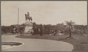 Equestrian statue of Washington and the Public Gardens, Boston, Mass.