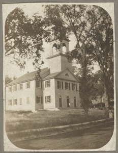 West Roxbury Unitarian Church, Centre and Church Sts. (First Parish), built 1773, remodeled 1821, burned 1890