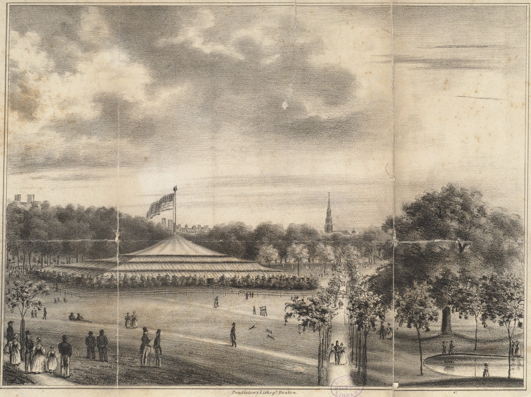 The pavilion. Erected for the Whig Celebration on the Common. Boston, July 4th, 1834