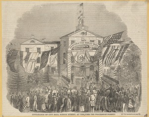 Appearance of City Hall, School Street, at the time the procession formed