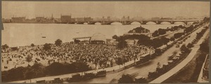 Symphony players. Arthur Fiedler conducting, giving concerts during summer of 1930