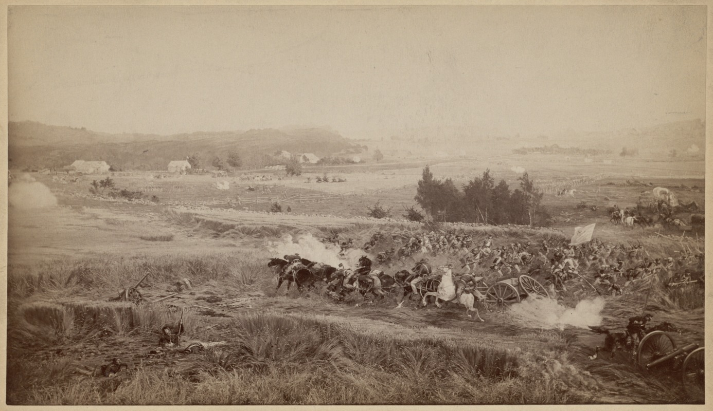 """""""A cloud possessed the hollow field"""" - One of eight scenes from the Cyclorama - The Battle of Gettysburg by Paul Philippoteaux"""
