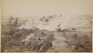 """Ah, how the withering tempest blew""… One of eight scenes from the Cyclorama - The Battle of Gettysburg by Paul Philippoteaux"
