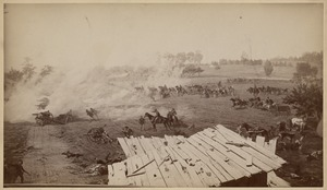"""Against the front of Pettigrew!"" - One of eight scenes from the Cyclorama - The Battle of Gettysburg by Paul Philippoteaux"
