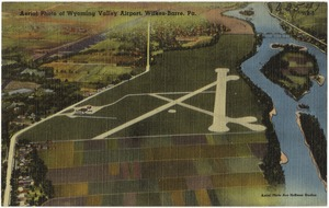 Aerial photo of Wyoming Valley Airport, Wilkes-Barre, Pa.