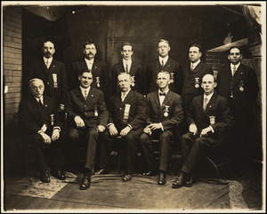 Tahanto Lodge, #23, Ancient Order of United Workmen of Massachusetts; officers, 1914