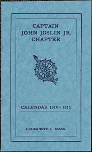 Daughters of the American Revolution (D.A.R.), Capt. John Joslin, Jr. Chapter. Calendar, 1914-15