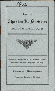 1914 Roster and officers' list of Charles H. Stevens Women's Relief Corps #31, organized December 29, 1885