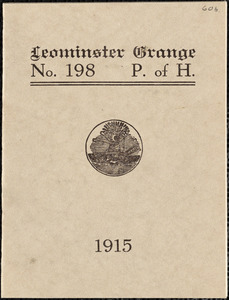 Leominster Grange No. 198, P. of H., program