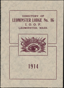 Leominster Lodge, No. 86, I. O. O. F., directors list