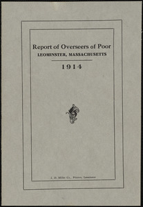 Overseers of the Poor, report, Leominster, Massachusetts, 1914