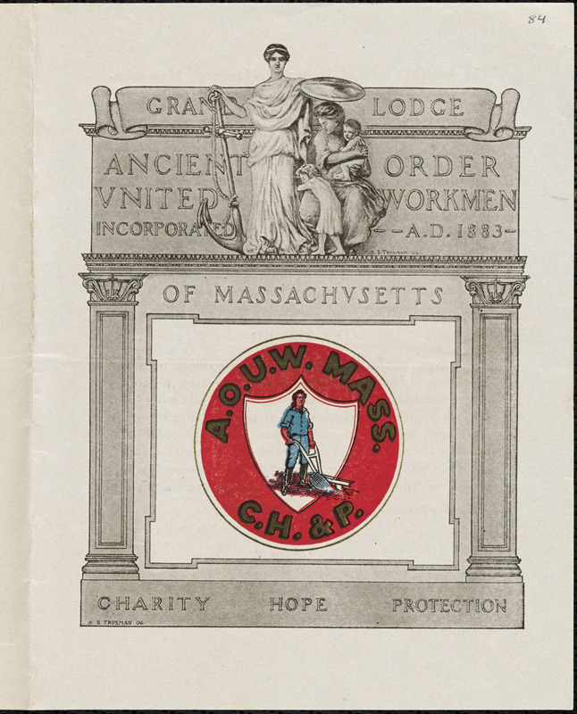 Ancient Order of United Workmen, Tahanto Lodge #23, recruitment flier