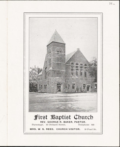 First Baptist Church of Leominster, church program June 27 1915