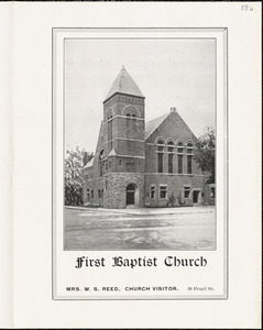 First Baptist Church of Leominster, church program July 4, 1915