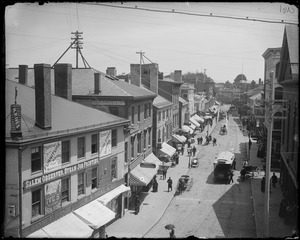 Salem, Essex Street from Price block east, Ives' corner to Central Street
