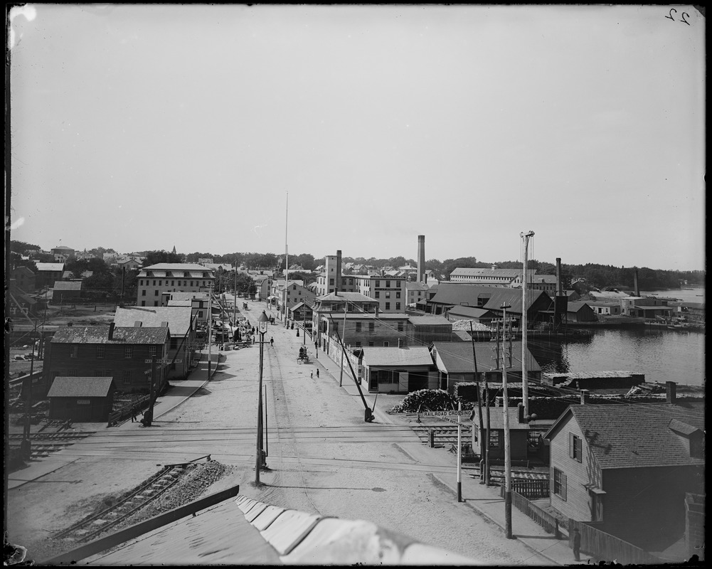 Salem, North Street from Bridge Street, view, ward 6