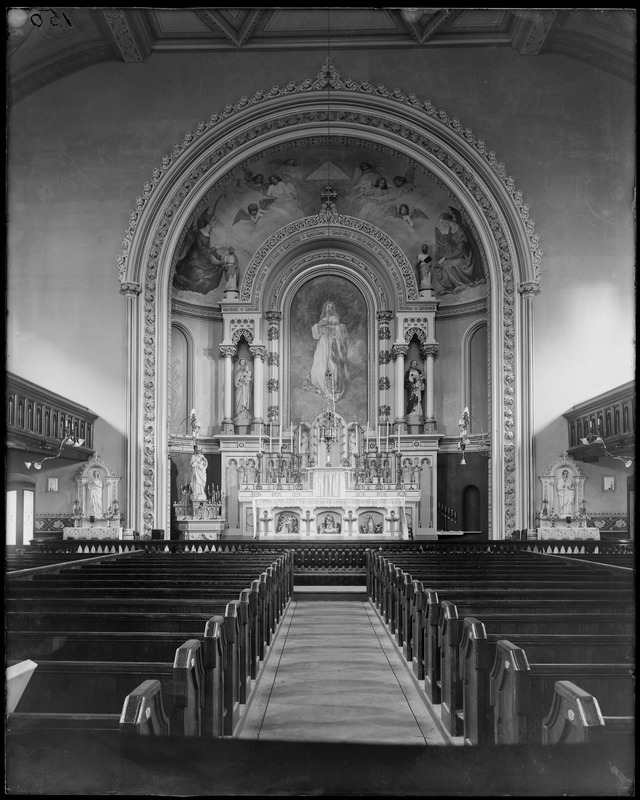 Interior detail, altar, Church of the Immaculate Conception, (1856)