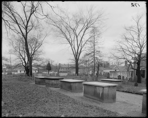 Salem, Charter Street, views, Burying Point from Charter Street, occupied before 1637