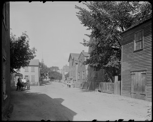 Salem, Creek Street, views, showing gable roofed house and South Church