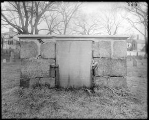 Monuments, Salem, Charter Street Cemetery, tomb, Judge Benjamin Lynde
