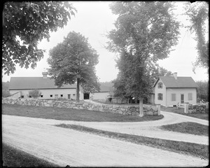 Danvers, off Maple Street, views, Dudley A. Massey place, barn, trees and coachman's residence