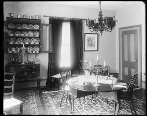 Buildings, interior, Salem, unknown house, dining room