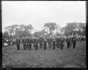 Group, officer and staff of Salem Light Infantry Veterans Association, parade October 7, 1891