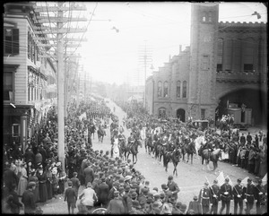 Group, Columbus Day parade, Second Corps Cadets, October 12, 1892