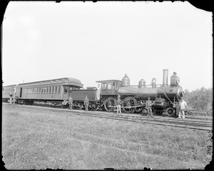Miscellaneous, Boston and Maine Railroad train at Middleton Station, 1891