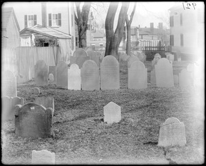 Monuments, Salem, Charter Street Cemetery, gravestones of Richard More's wives