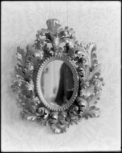 Objects, furniture, mirror, Florentine, from Italy about 1855