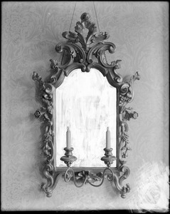 Salem, objects, mirror, Florentine, from Italy about 1855, sent by Edward Silsbee to C.H. Allen