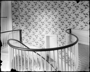 Waltham, interior detail, section of main stairway, Governor Gore Mansion, 1799