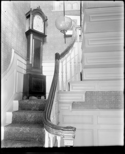 Beverly, 115 Cabot Street, interior detail, stairway, Cabot-Lee-Kilham house