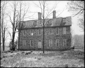 Horsham, Pennsylvania, 859 County Line Road, exterior detail, front elevation, Keith House, 1721