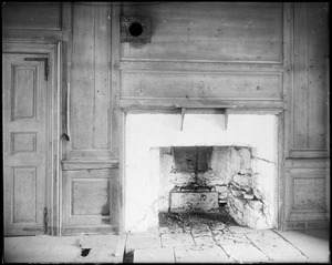 Horsham, Pennsylvania, 859 County Line Road, interior detail, kitchen fireplace, Keith House