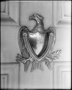 Kingston, Rhode Island, exterior detail, knocker, unknown Helme house