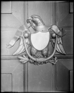 Kingston, Rhode Island, exterior detail, knocker, Eddy house