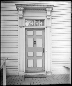Kingston, Rhode Island, exterior detail, door, Wilkins Updike, Updike-Hunt house
