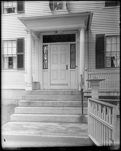 Kingston, Rhode Island, exterior detail, porch, door, Asa Potter house