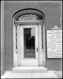 Baltimore, Maryland, 16 East Lexington Street, exterior detail, door, unknown house